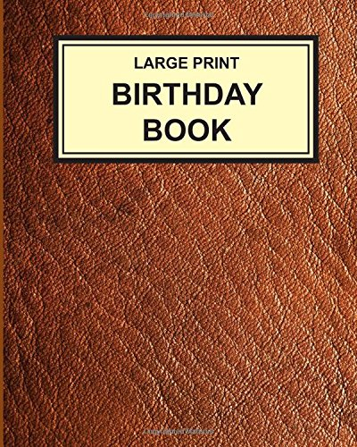 Large Print Birthday Book anniversaries product image
