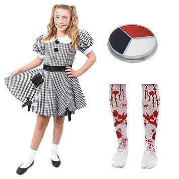 Ilovefancydress Kinder Flicken Kleid Kostum Verkleidung Puppen Mit