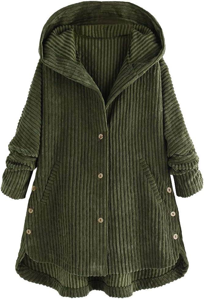Finebo Manteau à Capuche Décontracté pour Femme, Design