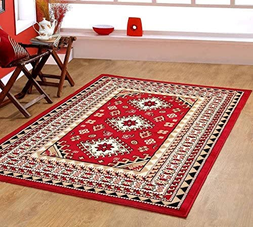 Furnish my Place Southwest Southwestern Lodge Tribal Area Rug Style Carpet Red Maharaja 624 furnishmyplace
