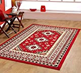 Tribal Rug Southwest Southwestern Lodge Tribal Area Rug Style Carpet Red Maharaja 624 furnishmyplace - 4'x6'
