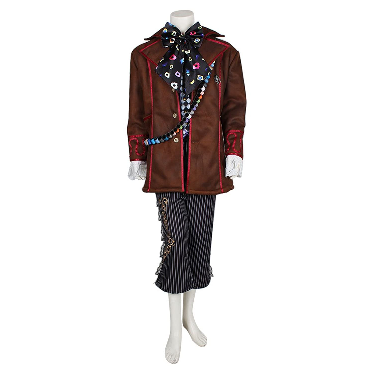 Men's Johnny Depp Mad Hatter Cosplay 6-PC Suit - DeluxeAdultCostumes.com