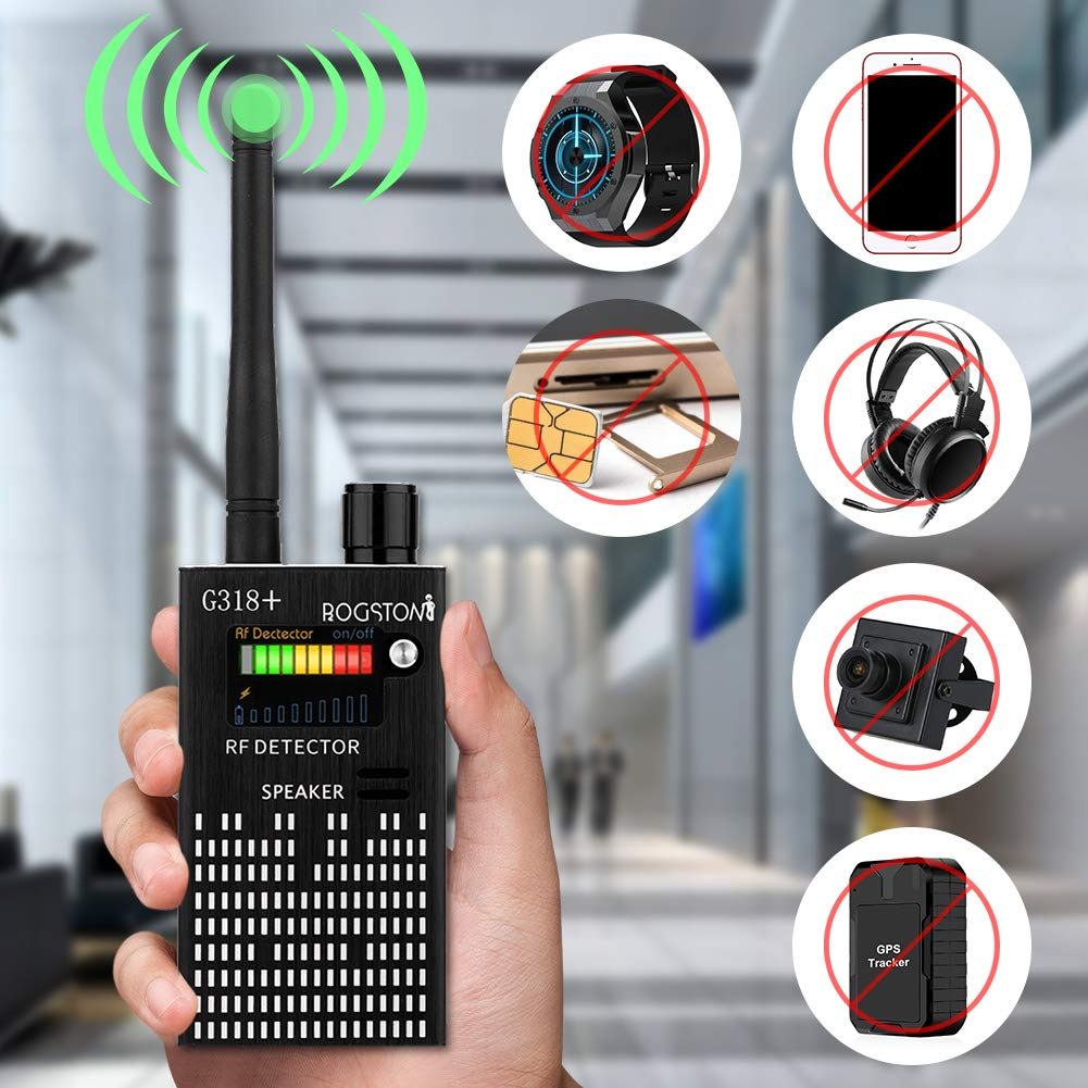 Super Anti-spy Bug GPS Wireless Camera RF Signal Detector Set[Enhanced Version], ROGSTOM Higher-Sensitivity Tracker Locator Radar Radio Wave Scanner GSM Device Finder for Family, Hotel, Car and Girl by ROGSTOM
