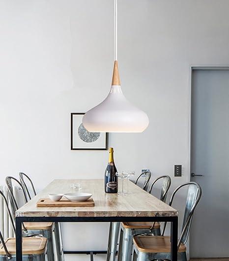 Moderno Iluminación Colgante de Metal de Madera Industrial Cebolla ...