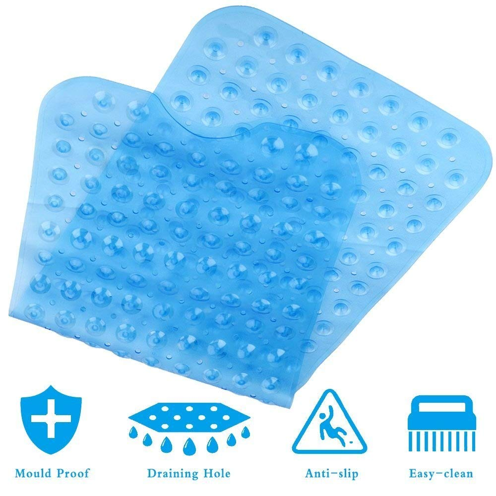 KOEPUO Non Slip Bath Mat, Extra Long Shower Mats Anti Slip Bathtub Mat Anti Bacterial Machine Washable Tub Mat with 200 Suction Cups 40