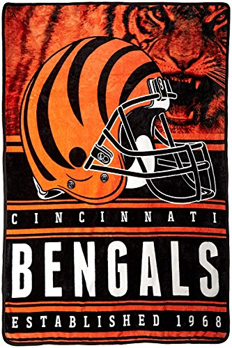 Officially Licensed NFL Cincinnati Bengals Stacked Silk Touch Throw Blanket, 60