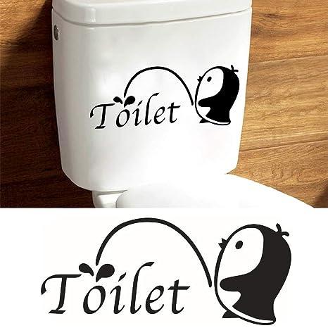 WC-Sitz-Aufkleber für Badezimmer, lustiges Handsignal ...