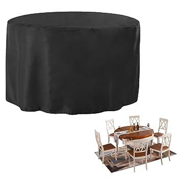 JTDEAL Fundas impermeables para mesa redonda, Cubre mesa jardin ...