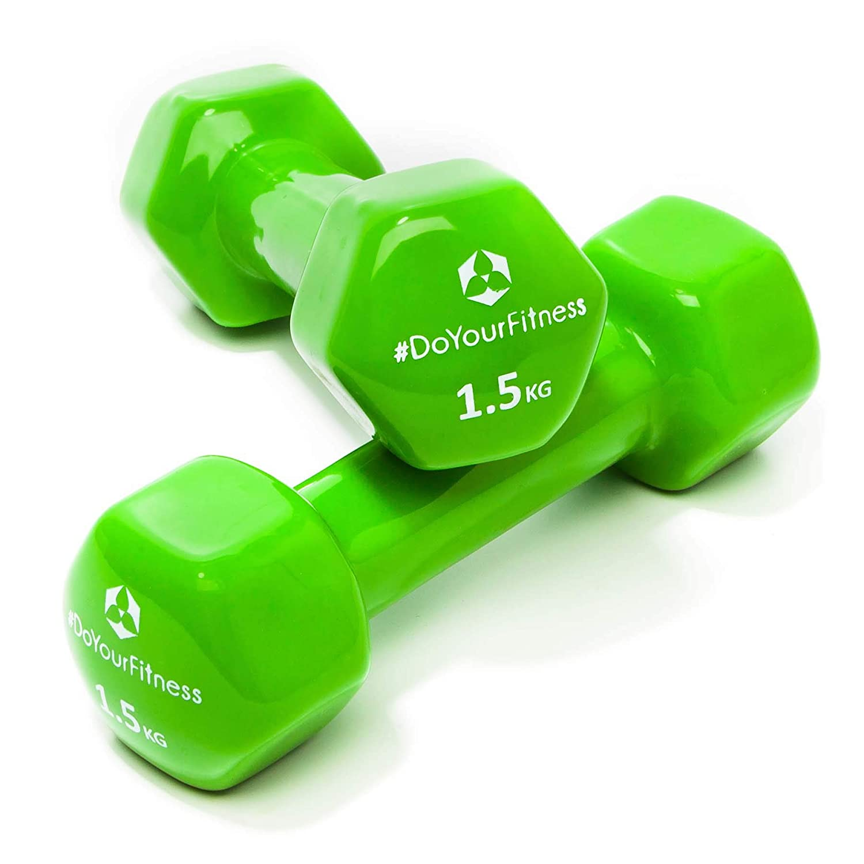 [7 parejas] Set Ahorro de pesas vinilo »Hexagon« / Mancuernas disponibles en diferentes pesos y colores / (0,5kg, 0,75kg, 1kg, 1,5kg, 2kg, ...