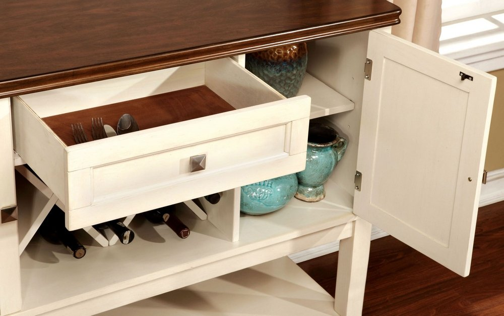 247SHOPATHOME sideboards, White and Cherry