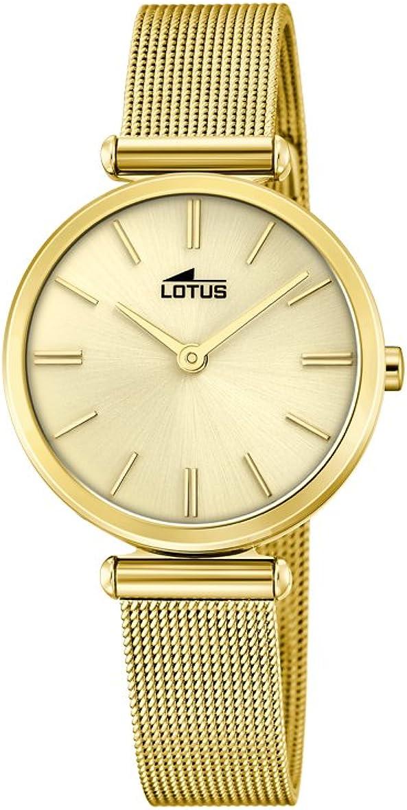 Lotus Watches Reloj Análogo clásico para Mujer de Cuarzo con Correa en Acero Inoxidable 18539/1