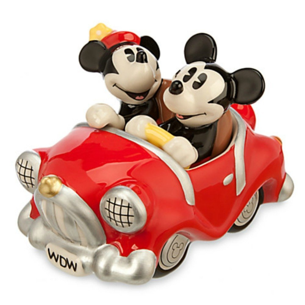 Disney Mickey and Minnie Mouse Retro Salt and Pepper Shaker Set by Disney DIS7509055890377P