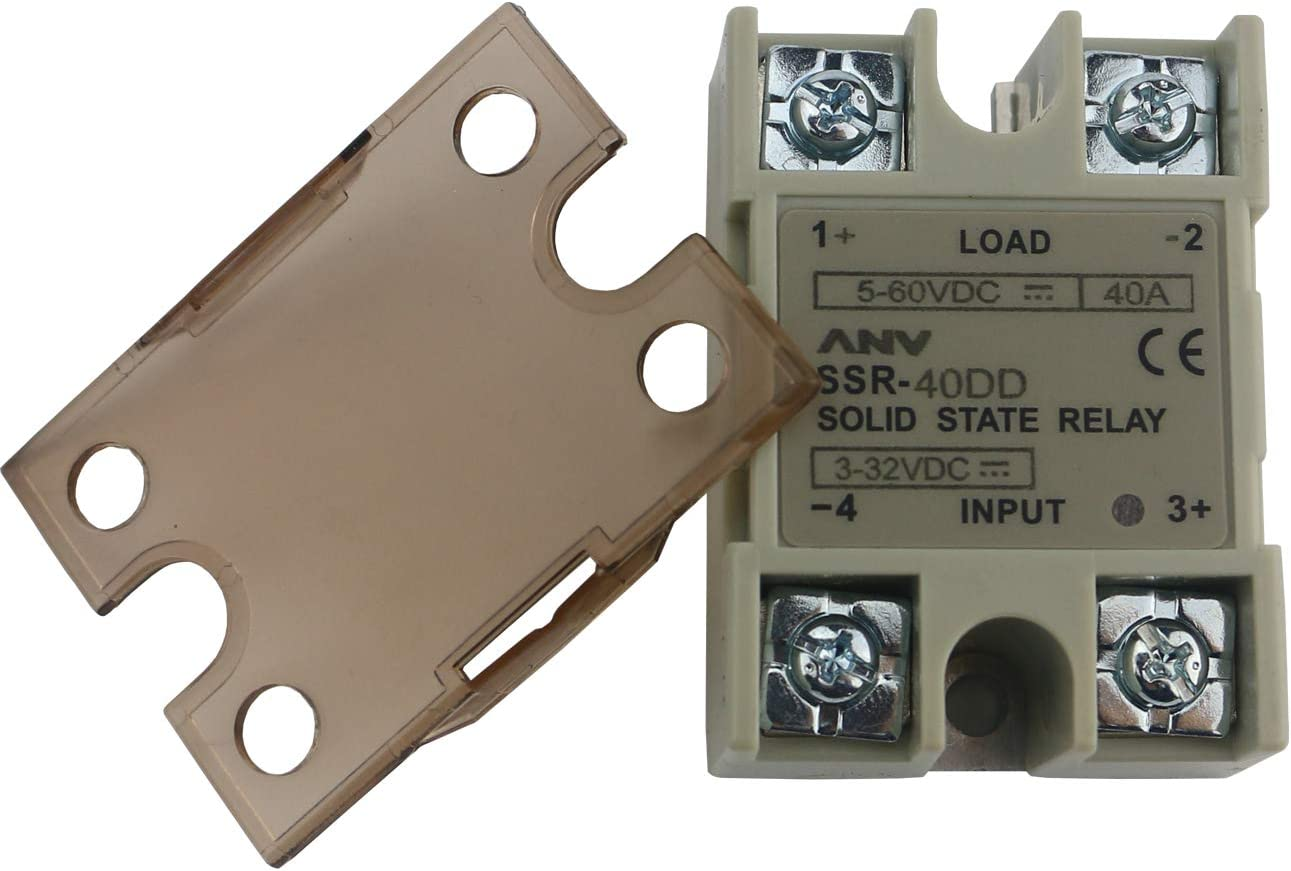 TinaWood 2 PCS SSR-40AA Solid State Relay AC To AC 40A