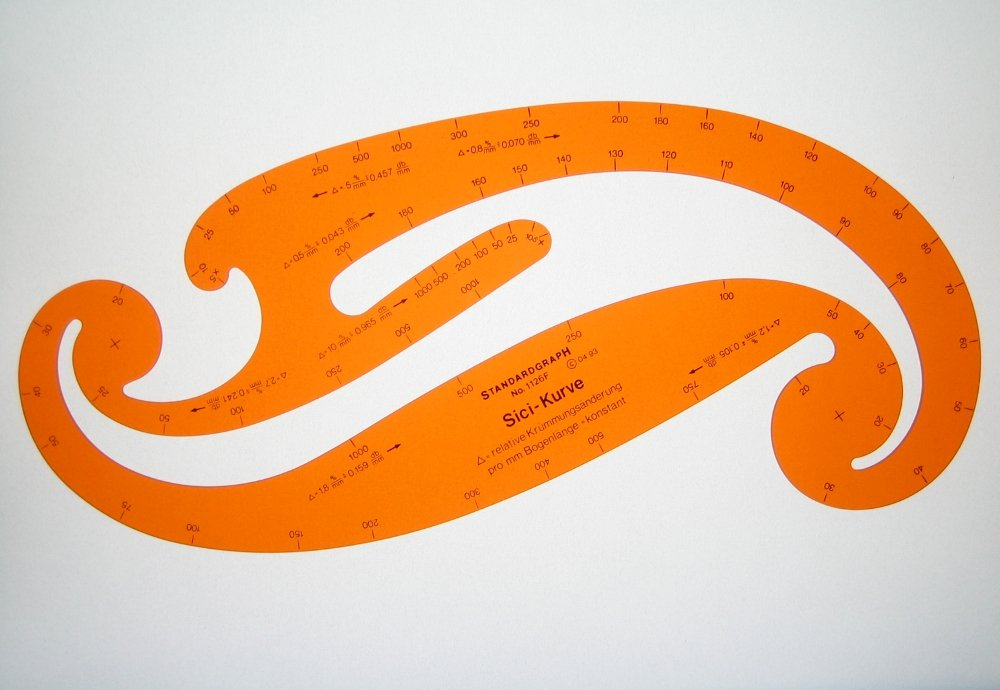 Graduated French Curves Sici Curve Drawing Drafting Template Stencil ...