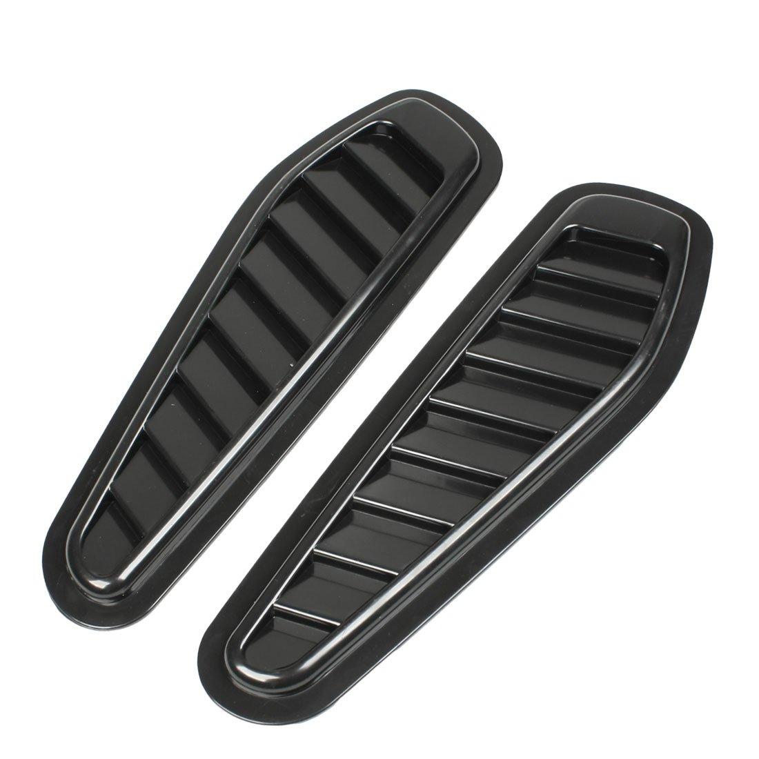 sourcingmap® Fahrzeug Auto Side Lüftungs Fender Deck Aufkleber Dekoration Schwarz 2 Stück sourcing map a13010200ux0205