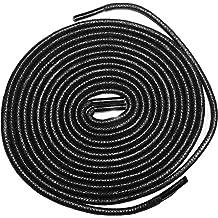 """Shoeslulu 20-47"""" Premium Round Waxed Canvas Shoelaces Bootlaces"""