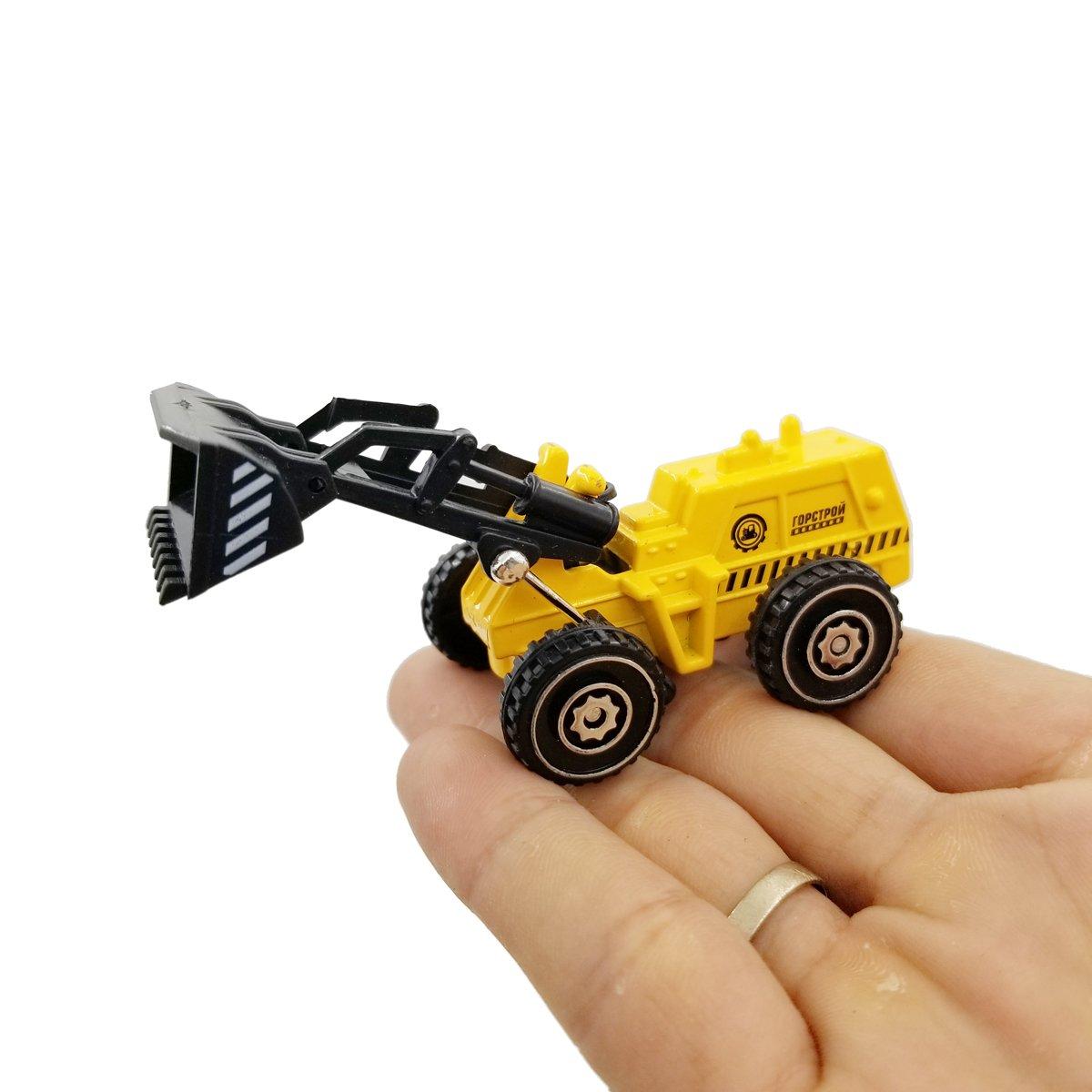 Clay truck Excavating trucks Bulldozers Dump trucks M-jump 5 PCS Mini 1:72 Scale DIE-CAST Metal Construction Engineering Vehicle Toys Set for kids Truckshovel