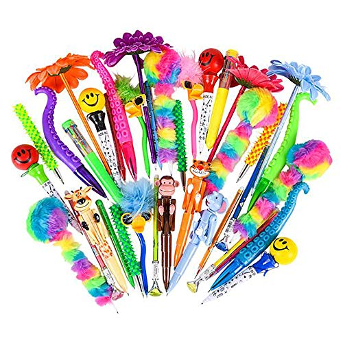 Pen Assortment - Pack of 24 of Character Pen, Art Activity, Birthday Present, Christmas Rewards, Pen Collections, Party Prizes, Pinata Stuffing, Motivational Writing Tools, Classroom Activity Award -