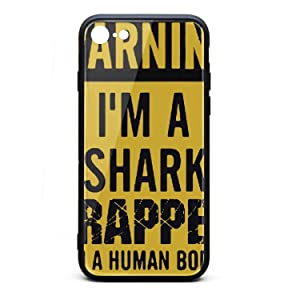I'm A Shark Trapped in A Hunman Body Phone Case for iPhone 7/8 TPU Gel Full Body Protection Cute Anti-Scratch Fashionable Glossy Anti Slip Thin Shockproof Soft Case