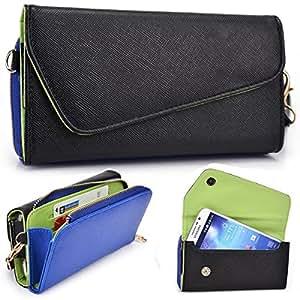 Kroo Urban Black / Dark Blue Wallet fits Huawei Ascend Mate MT1-T00 case