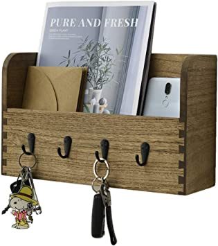 Home Wooden Brown Key Holder With A Key Chain Key Organizer