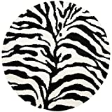 Safavieh Zebra Shag Collection SG452-1290 Ivory and Black Round Area Rug (6'7″ Diameter) Review
