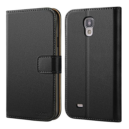 HOOMIL Galaxy S4 Case Premium Leather Case for Samsung Galaxy S4 Phone Wallet Case Cover (Black)