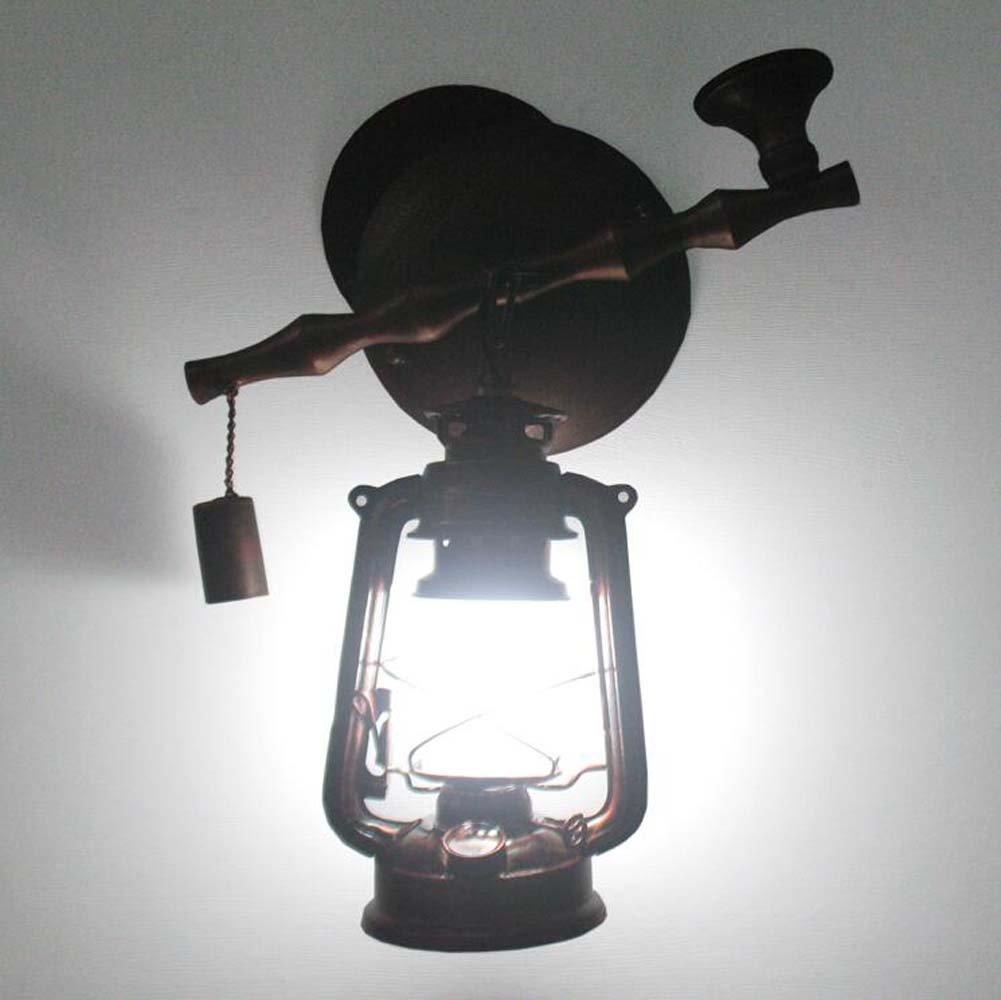 Lampada da parete in ferro industriale vintage lampada da cherosane balcone scale corridoio scale applique da parete bar caffetteria testa singola appeso lampada da parete E27 (escluso lampadine)