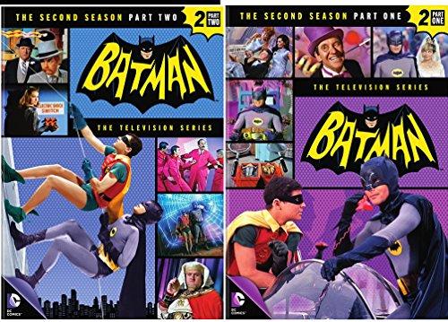 Batman: Complete Second Season - Part 1 & Part 2 Classic TV Series featuring Batman, Robin and Batgirl & Catwoman (Adam West Batman Tv Series)