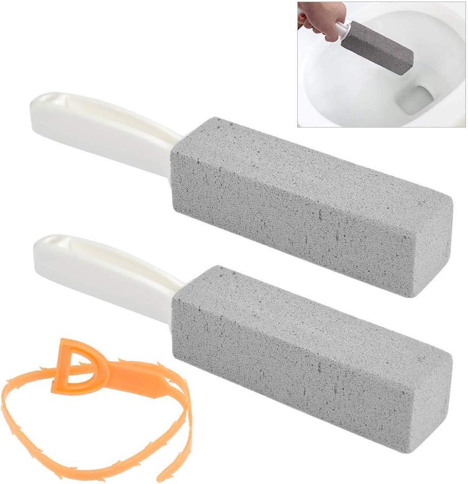 FOCCTS 3PCS Taza de Inodoro Piedra Pómez Corchos de Limpieza Piedra de Limpieza para Anillo de Agua Dura Quitar, Piscina, Plancha, Baldosa con Limpiador de Tubos