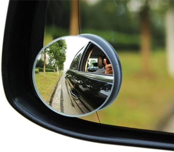 2x espejo adicional exterior autoescuela gran angular ángulo muerto accesorio negro grande