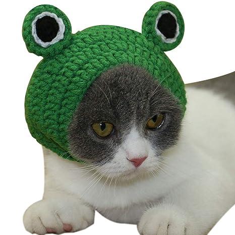Legendog Gorro De Gato Linda Rana Sombrero del Traje del Animal Doméstico del Sombrero del Gatito