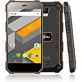 NOMU S10 IP68 Smartphone Triproof Sbloccato 4G 5.0 Pollici HD IPS Android 6.0 Quad Core Dual SIM Batteria 5000mAh 2GB RAM+16GB ROM Fotocamera 8MP Antipolvere e Impermeabile Antiurto (Arancione)