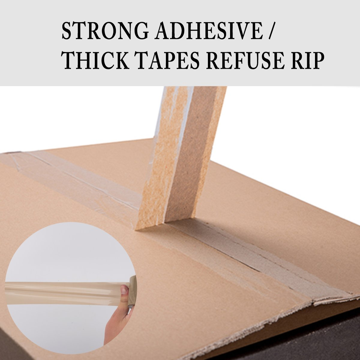 Shipping Tape,Packing Tape Browntape Heavy Duty Tape Packaging Tape Rolls for Shipping,Packaging,Moving,Office,Storage (Brown) by Anhaoda (Image #2)
