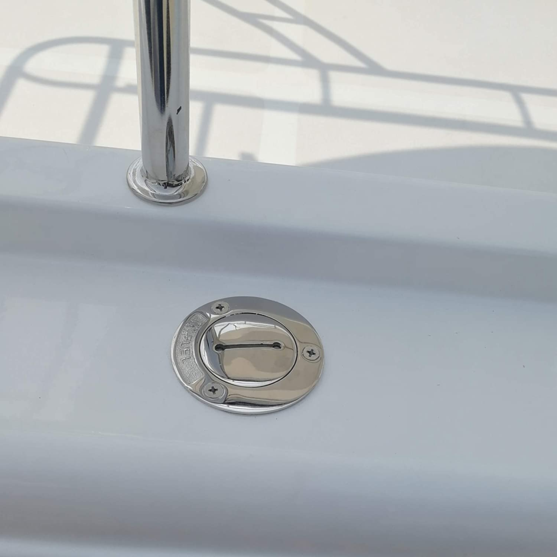 NRC/&XRC New Casting 2 Boat Fuel Deck Fill//Filler with Keyless Cap Marine Grade316 SS Hardware for Boat Yacht Caravan,RV 50mm