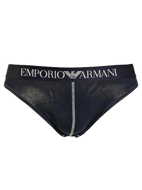 9de5ccb5ae7c Emporio Armani Perizoma Uomo Blu in Cotone Elasticizzato, S: Amazon ...