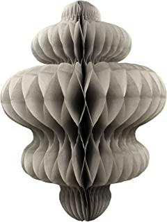 product image for 3-Pack 10 Inch Honeycomb Tissue Paper Hanging Chandelier Decoration (Gray)