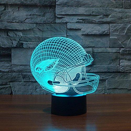 Night Lights for Children,Rugby Cap Philadelphia Eagles 3D Lights Colorful Touch LED Lights