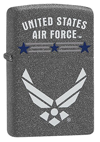 Zippo US Air Force Pocket Lighter, Iron Stone