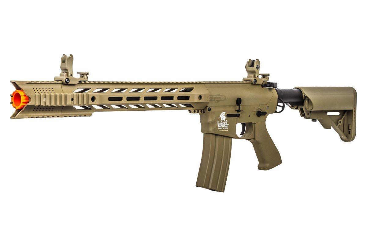 Lancer Tactical LT25T-G2 Gen 2 Interceptor SPR M4 Carbine AEG Airsoft Rifle (Dark Earth) by Lancer Tactical