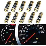 WLJH Super Bright 10 pcs T5 74 286 5mm Wedge Based Led Bulbs SMD 3030 Car