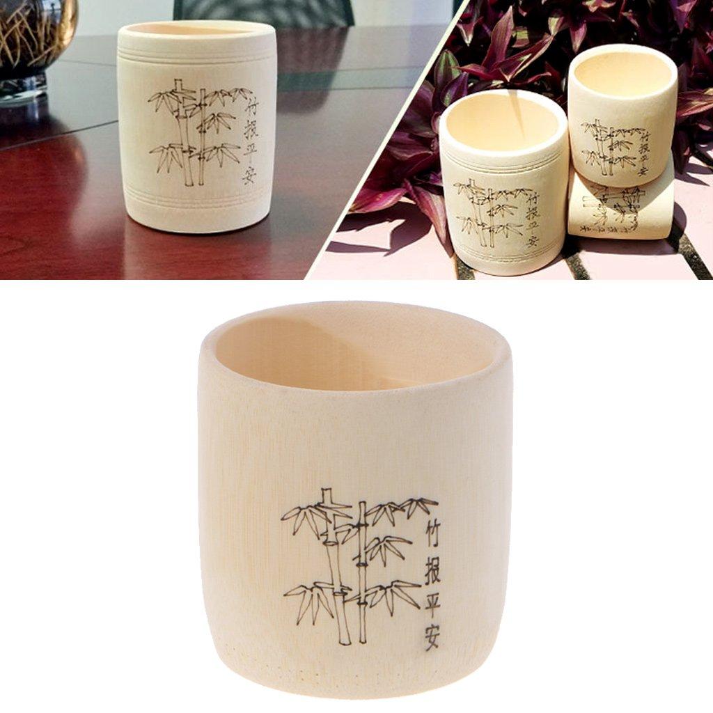 Bamboo Wooden Drinking Cup Coffee Tea Mug Breakfast Beer Milk Wine Glass