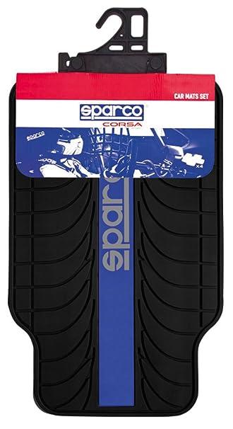 SPC SPC1913AZ Sparco Juego de Alfombras Franja, Color Azul
