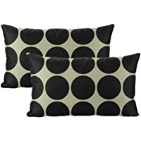 All Smiles Outdoor Decorative Throw Pillow Covers Cushion Cases Home Decor Accent Square 18 x 18 Set of 4 for Couch Sofa,Geometric Yellow&Lemon Color …