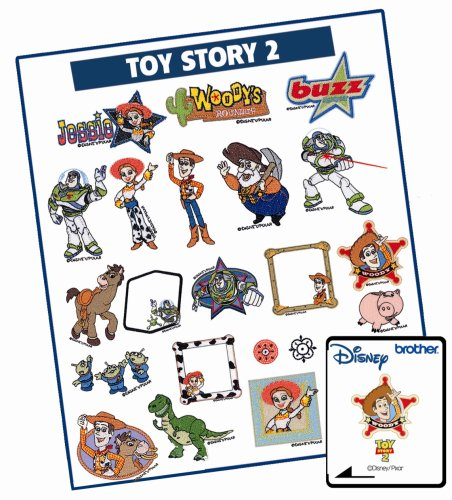 Featuring Pixar Toy Story 2 Embroidery Designs ()