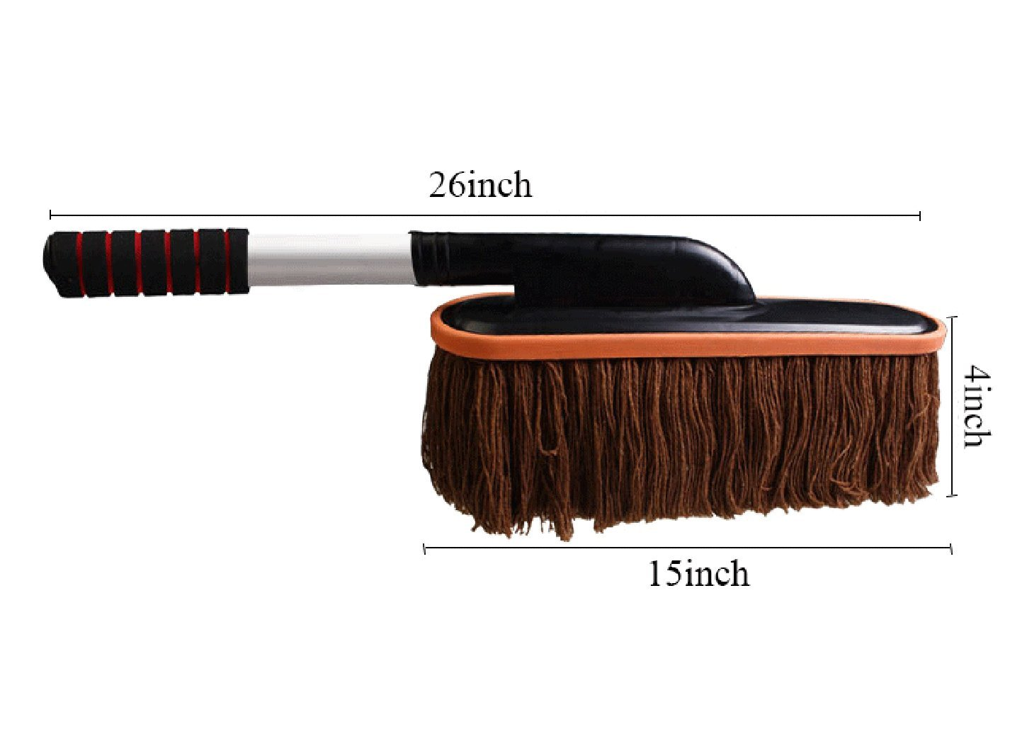 UniEco Car Wash Brush Length 26-Inch xWidth 15-Inch xHeight 4-Inch Brown Color ,Car Wash Mop