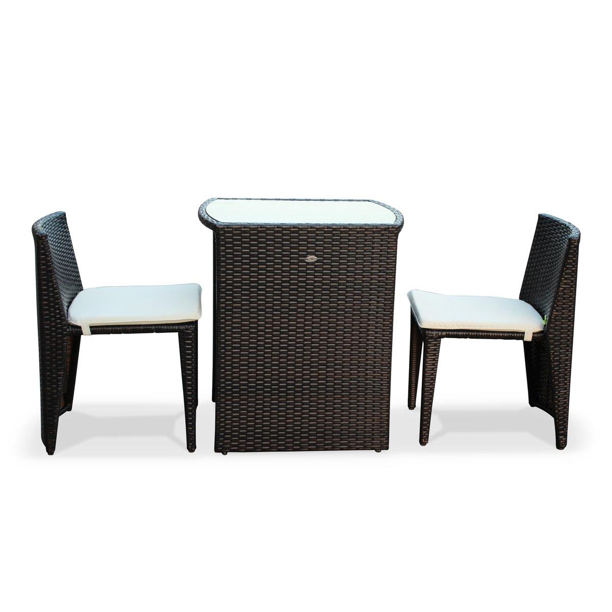 Alice\'s Garden - Conjunto de mesa y sillas de jardin ratan sintetico ...