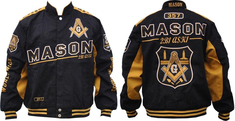 Cultural Exchange Mason Divine S7 Mens Twill Racing Jacket [Black - L] by Cultural Exchange
