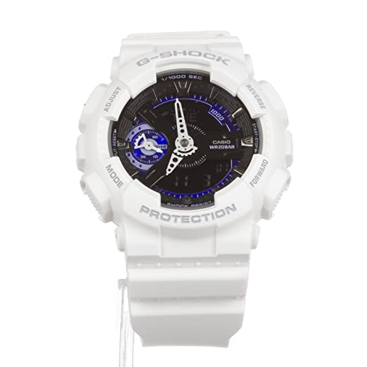 Casio G-Shock gmas110cw-7 a3 Reloj de Color Blanco frío W ...