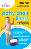 Amazon Price History for:Tidy Tots Disposable Potty Chair Liners - Travel Pack XL - 32 Liners and 32 Super-Absorbent Pads, White